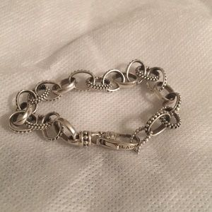 Lagos Two-tome Oval Link Bracelet